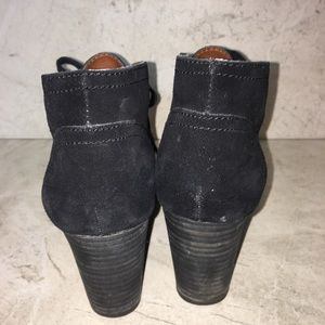 Lucky Brand Shoes - Lucky Brand Black Suede Lace Up Wedge Booties